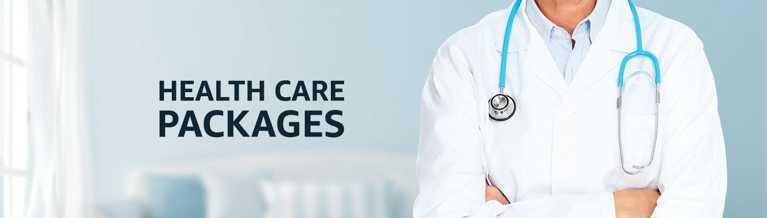 Healthcare package products banner
